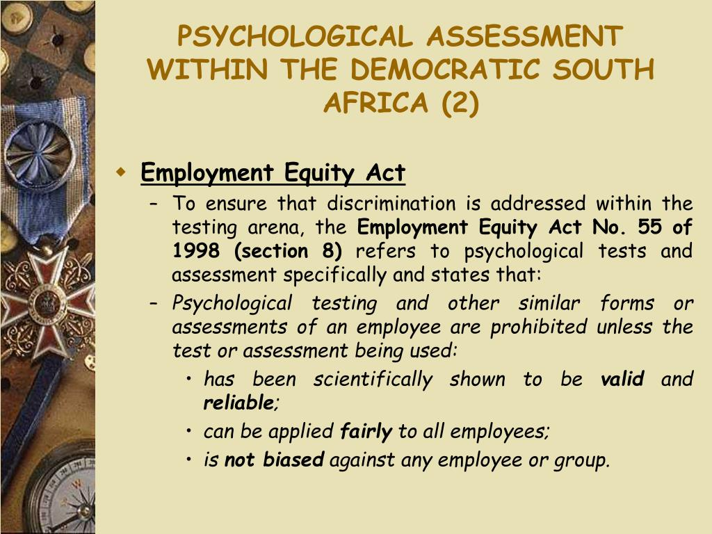 PSYCHOLOGICAL ASSESSMENT WITHIN THE DEMOCRATIC SOUTH AFRICA (2)
