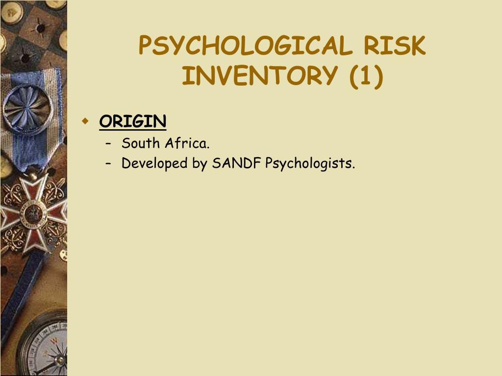 PSYCHOLOGICAL RISK INVENTORY (1)