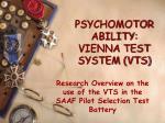 psychomotor ability vienna test system vts