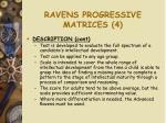 ravens progressive matrices 4