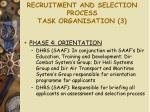 recruitment and selection process task organisation 3