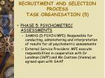 recruitment and selection process task organisation 5