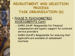 recruitment and selection process task organisation 6