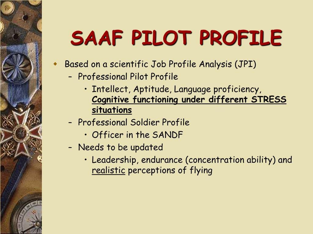 SAAF PILOT PROFILE