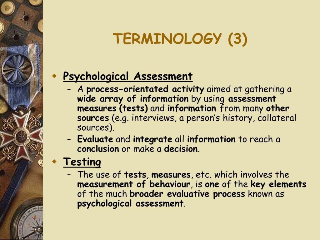 TERMINOLOGY (3)