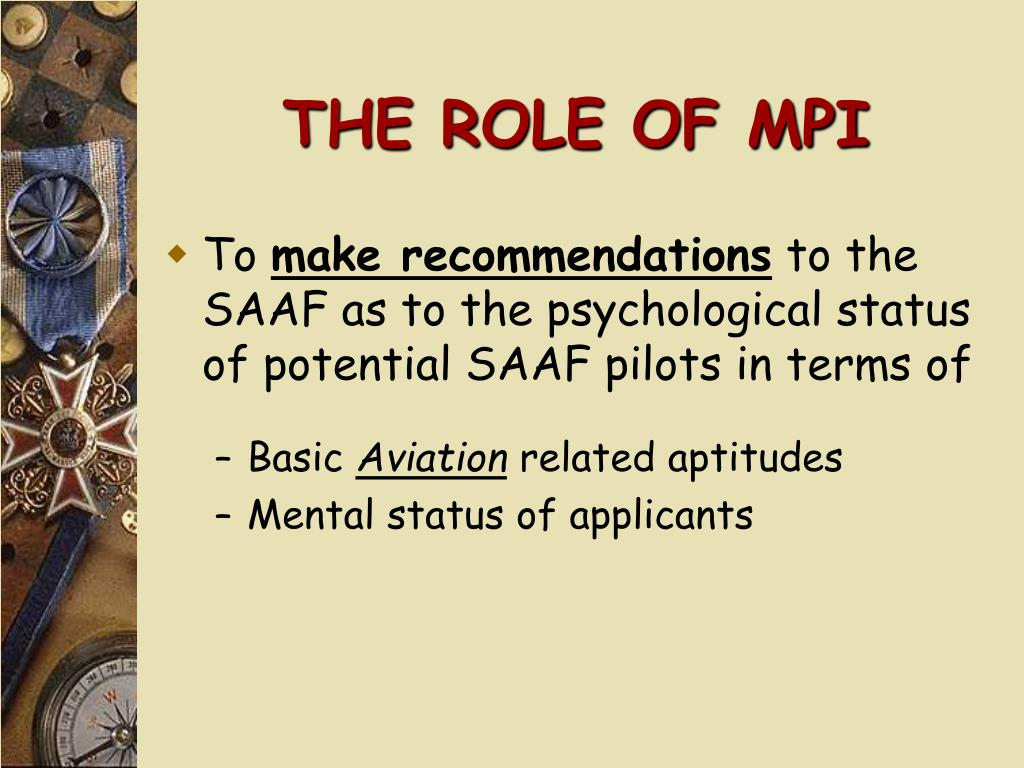 THE ROLE OF MPI