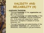 validity and reliability 4