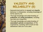 validity and reliability 5