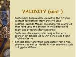 validity cont