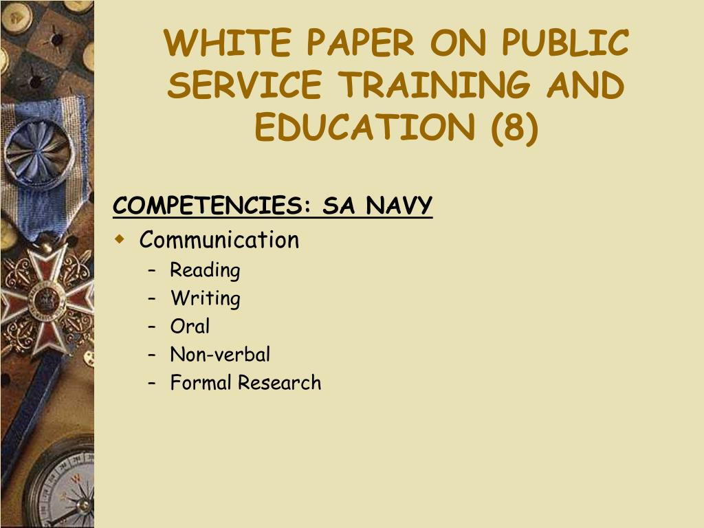 WHITE PAPER ON PUBLIC SERVICE TRAINING AND EDUCATION (8)