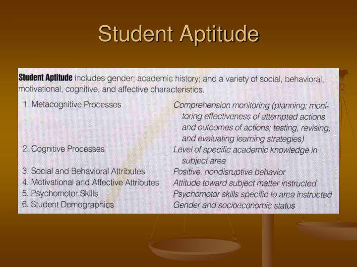 Student Aptitude