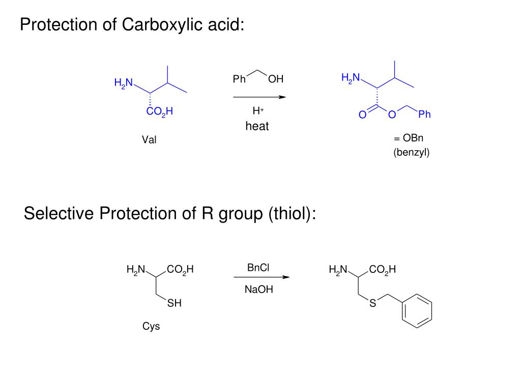 Protection of Carboxylic acid:
