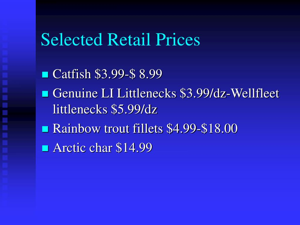 Selected Retail Prices