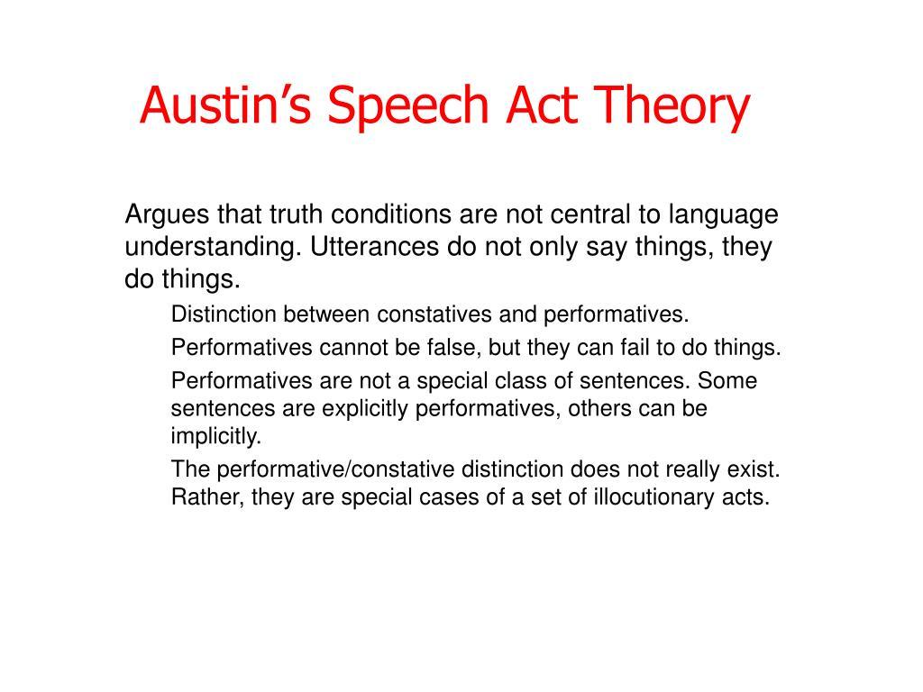 Austin's Speech Act Theory