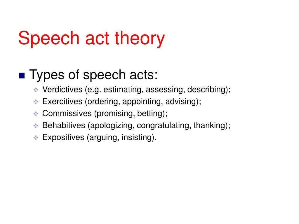 Speech act theory