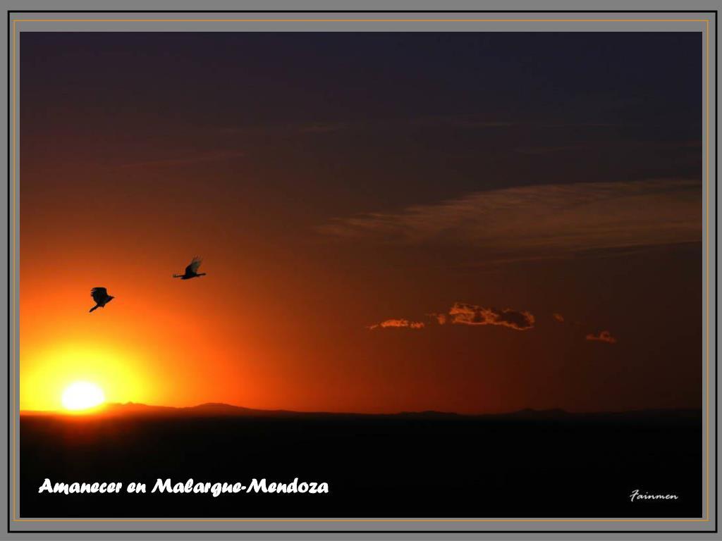 Amanecer en Malargue-Mendoza