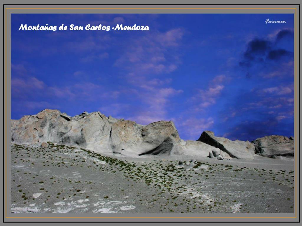 Montañas de San Carlos -Mendoza