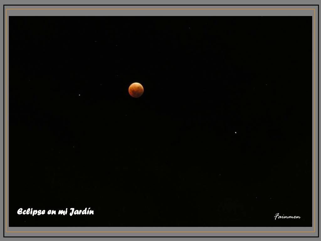 Eclipse en mi Jardín