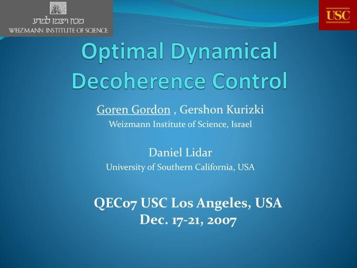 Optimal dynamical decoherence control