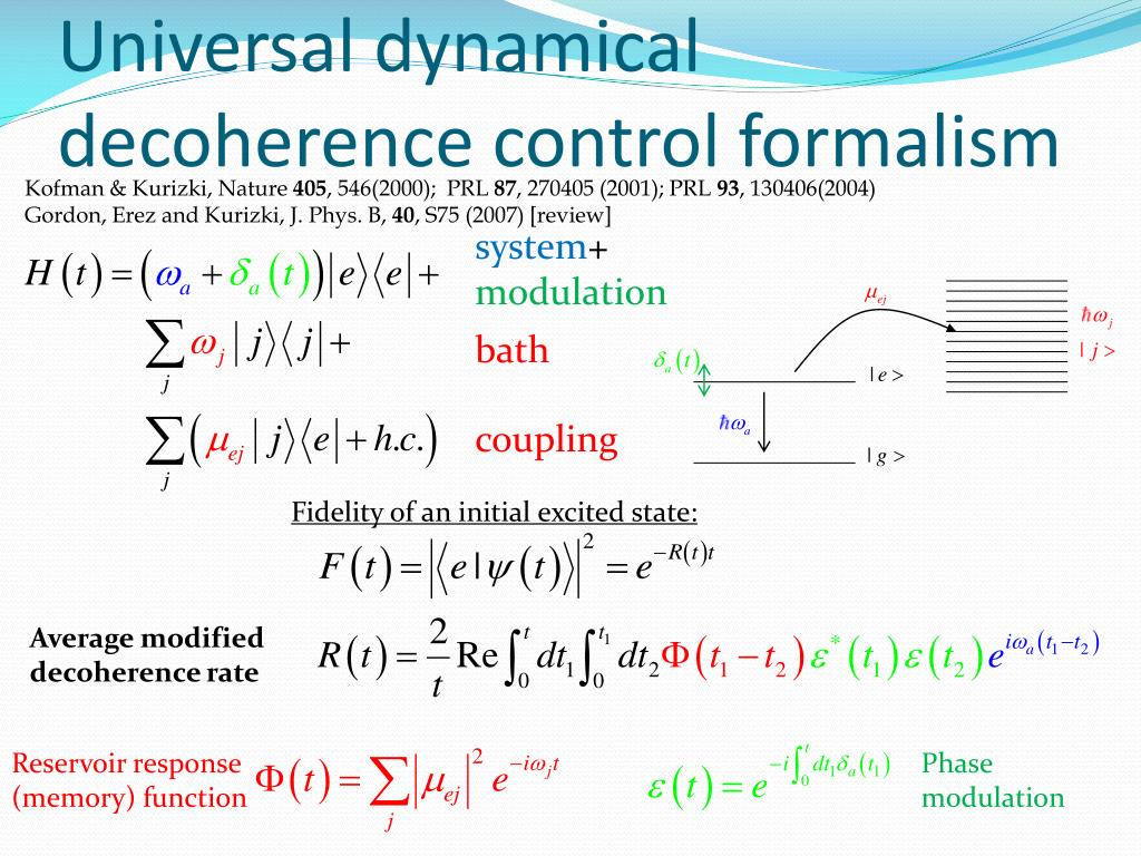 Universal dynamical decoherence control formalism