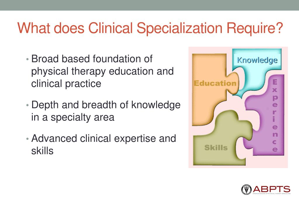 What does Clinical Specialization Require?