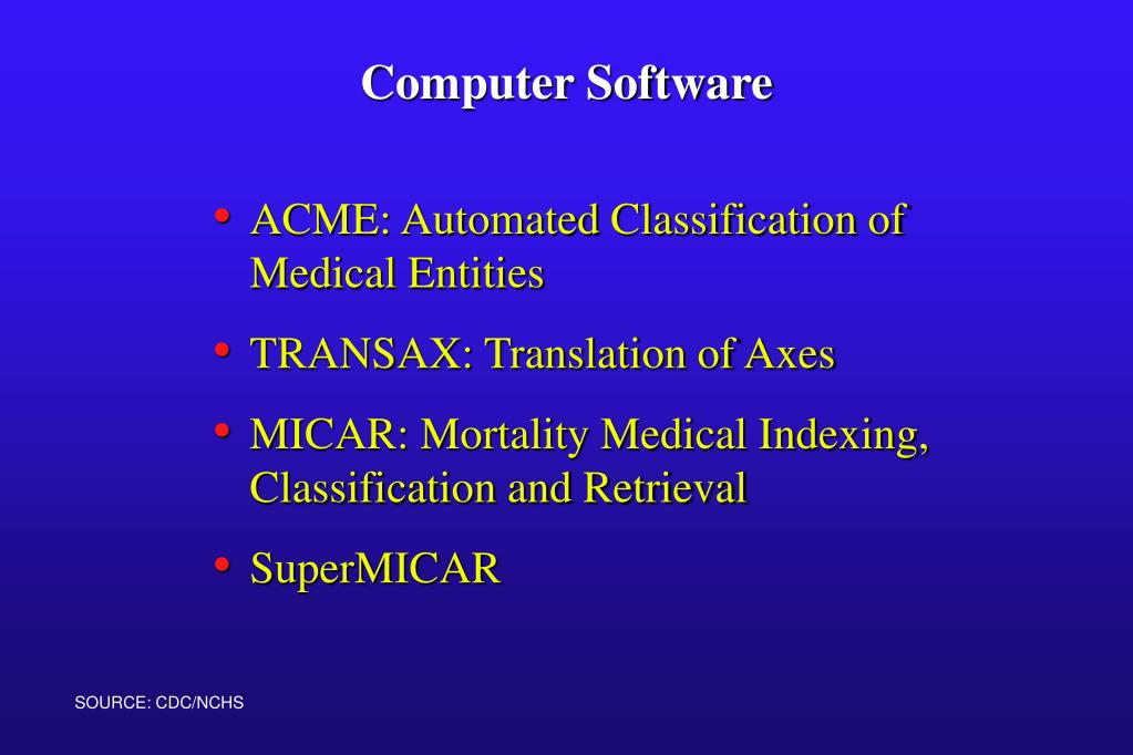 ACME: Automated Classification of Medical Entities