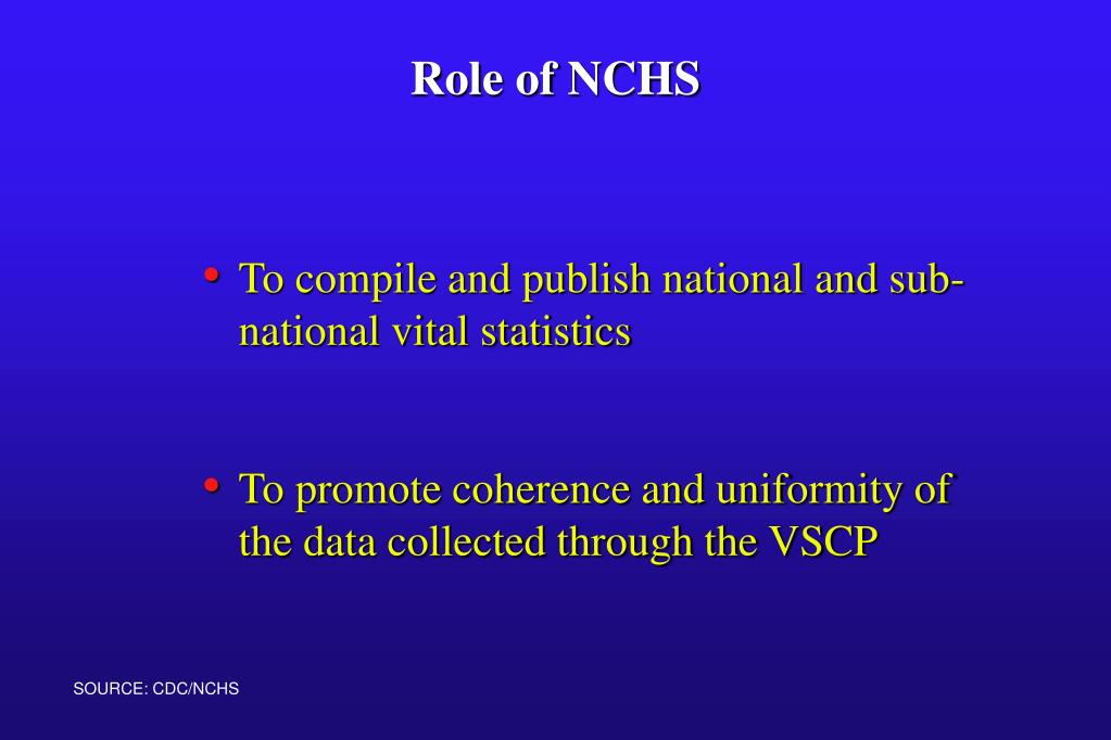 To compile and publish national and sub-national vital statistics