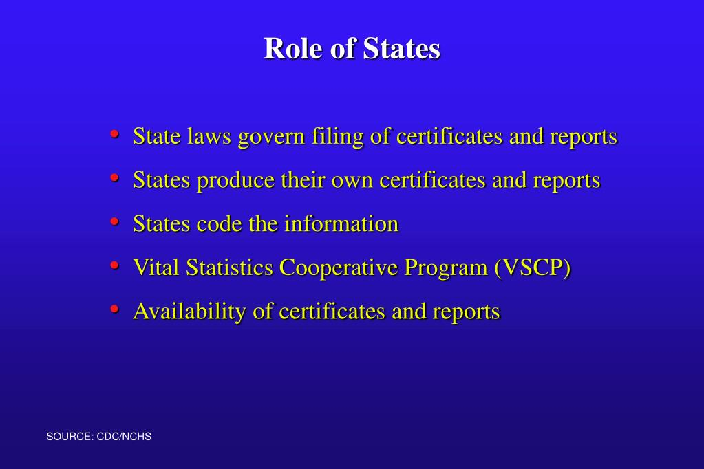State laws govern filing of certificates and reports