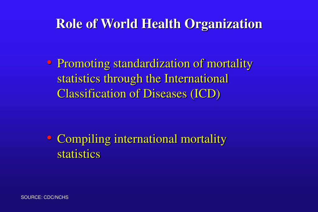Promoting standardization of mortality statistics through the International Classification of Diseases (ICD)
