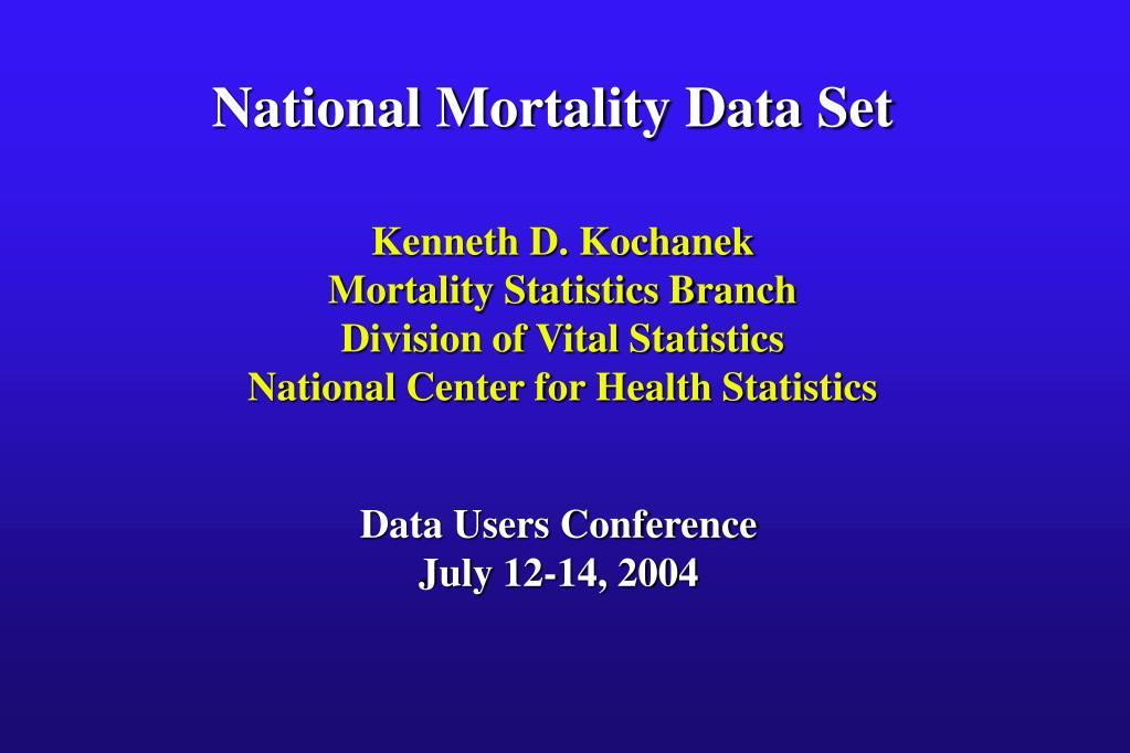 National Mortality Data Set