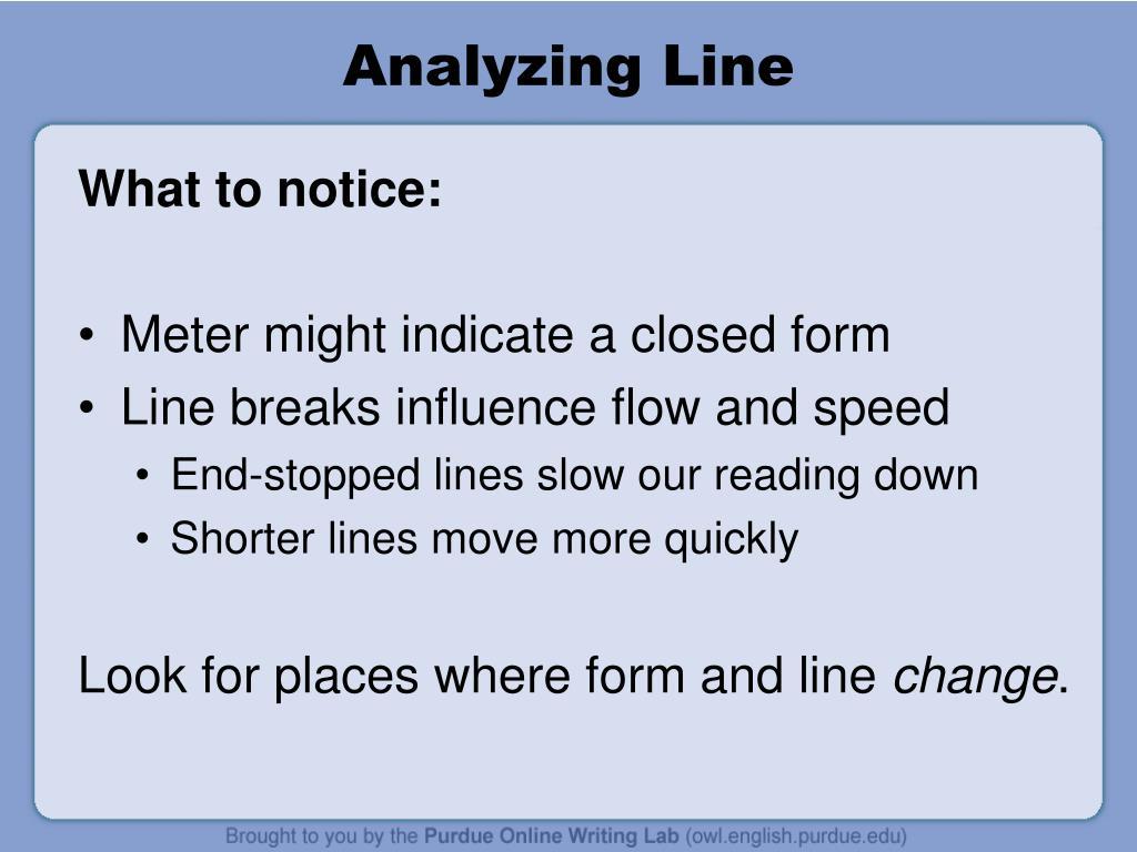 Analyzing Line