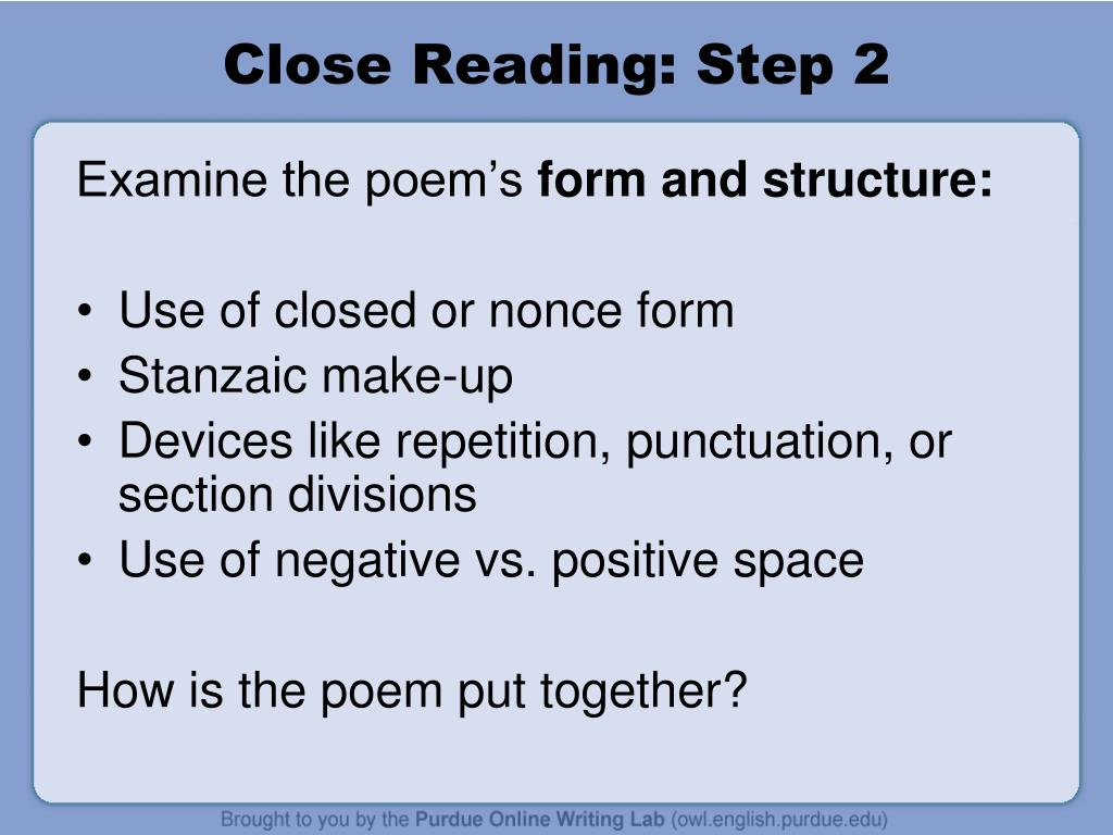 Close Reading: Step 2