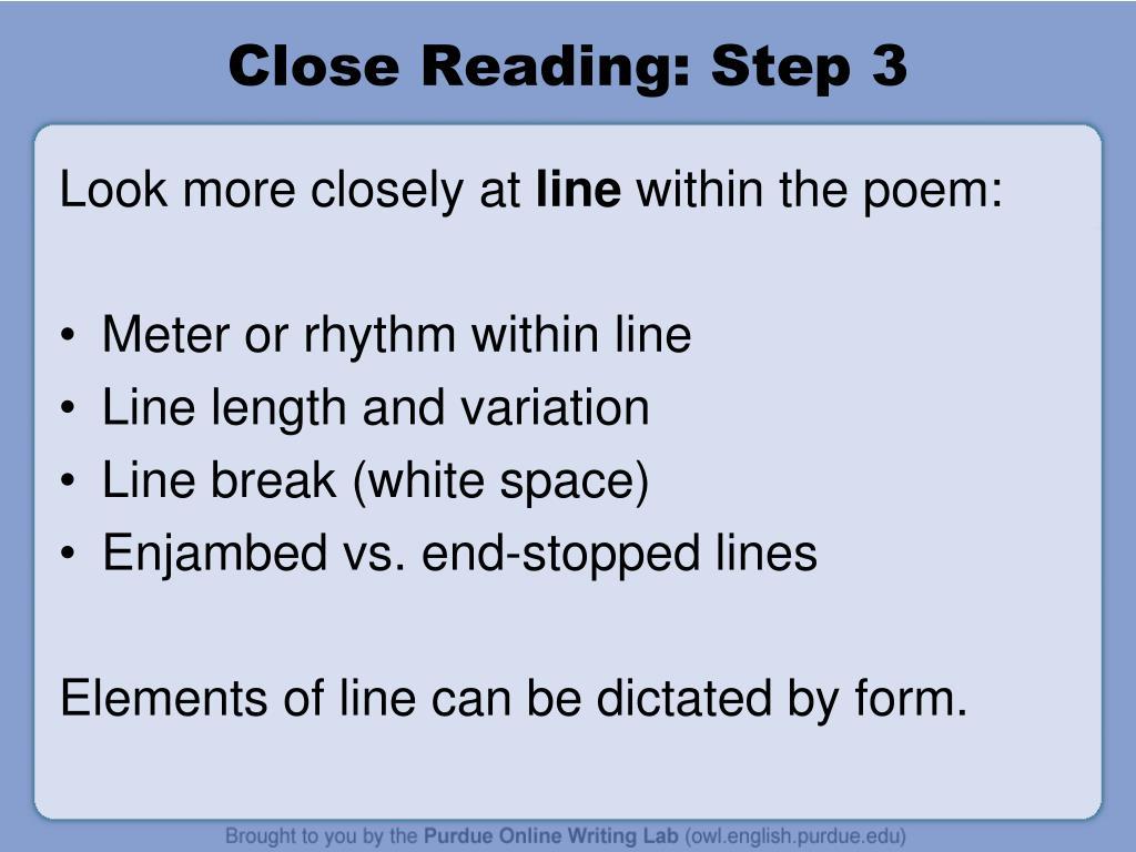 Close Reading: Step 3