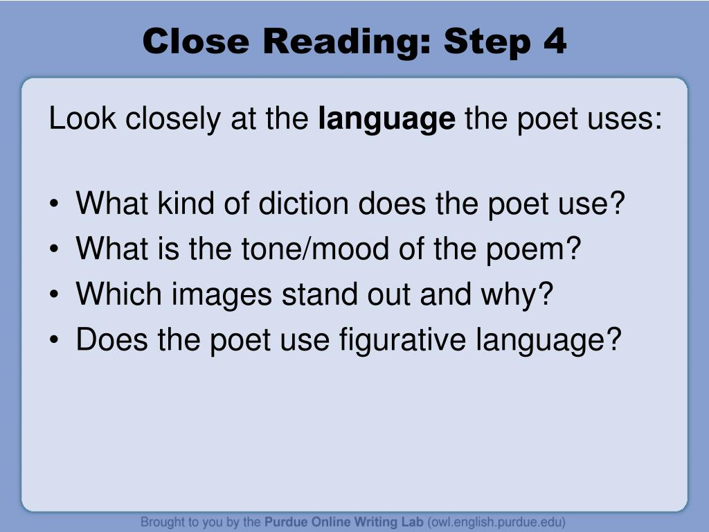 Close Reading: Step 4