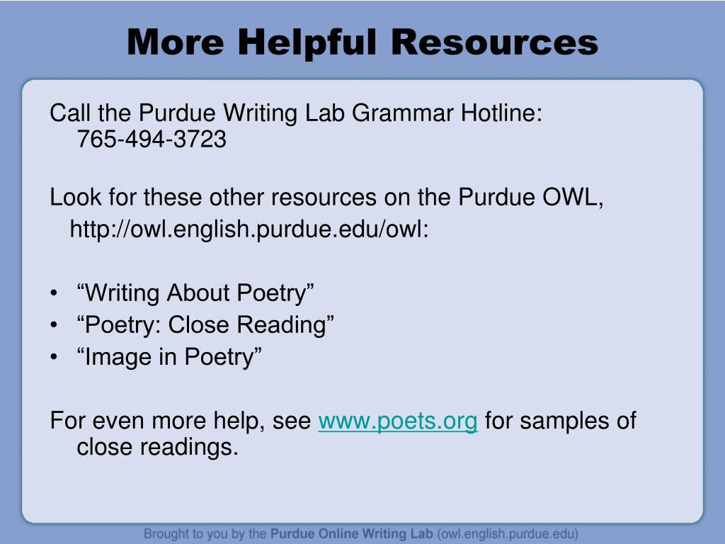 More Helpful Resources