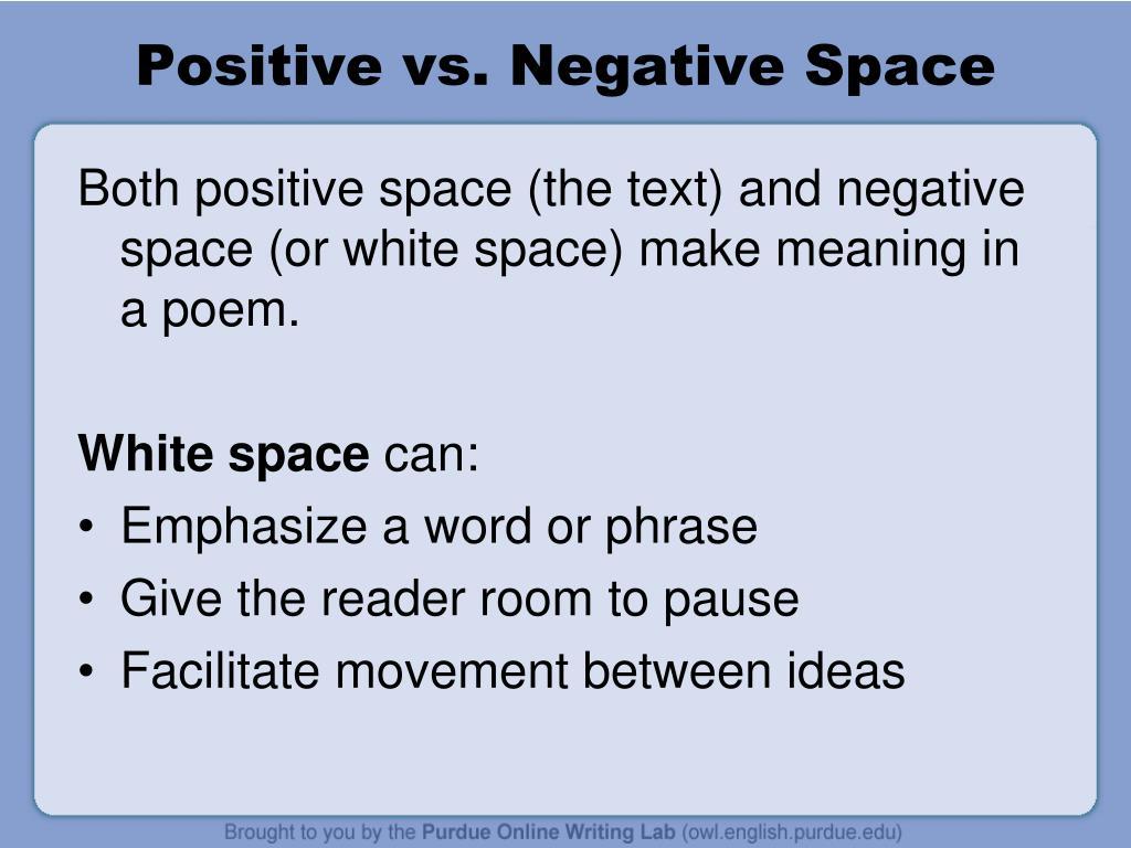 Positive vs. Negative Space