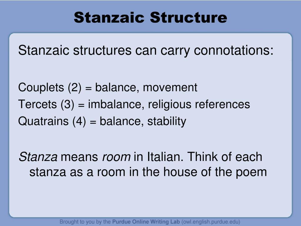 Stanzaic Structure