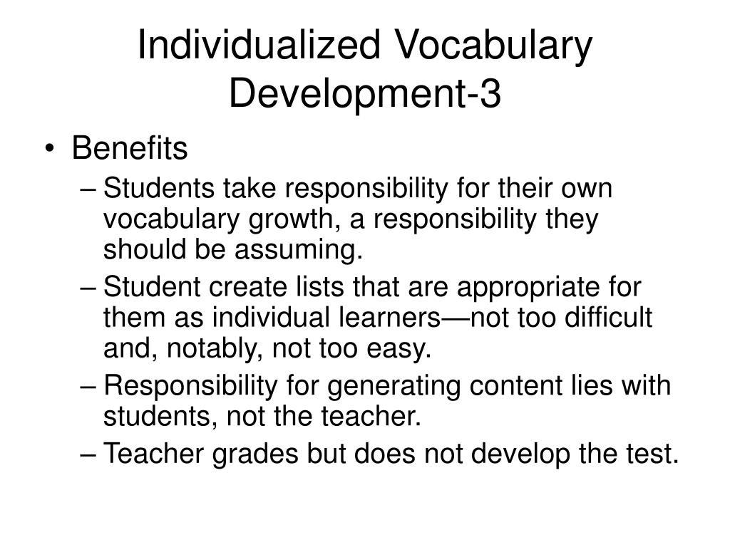 Individualized Vocabulary Development-3