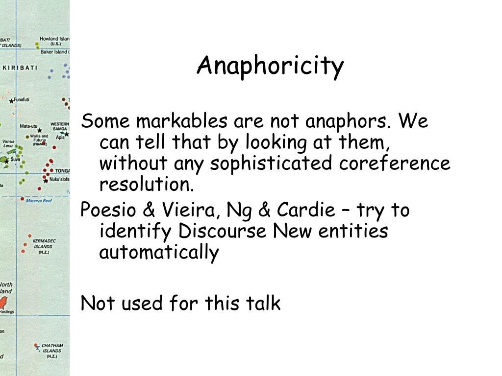 Anaphoricity