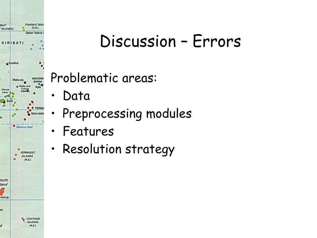 Discussion – Errors