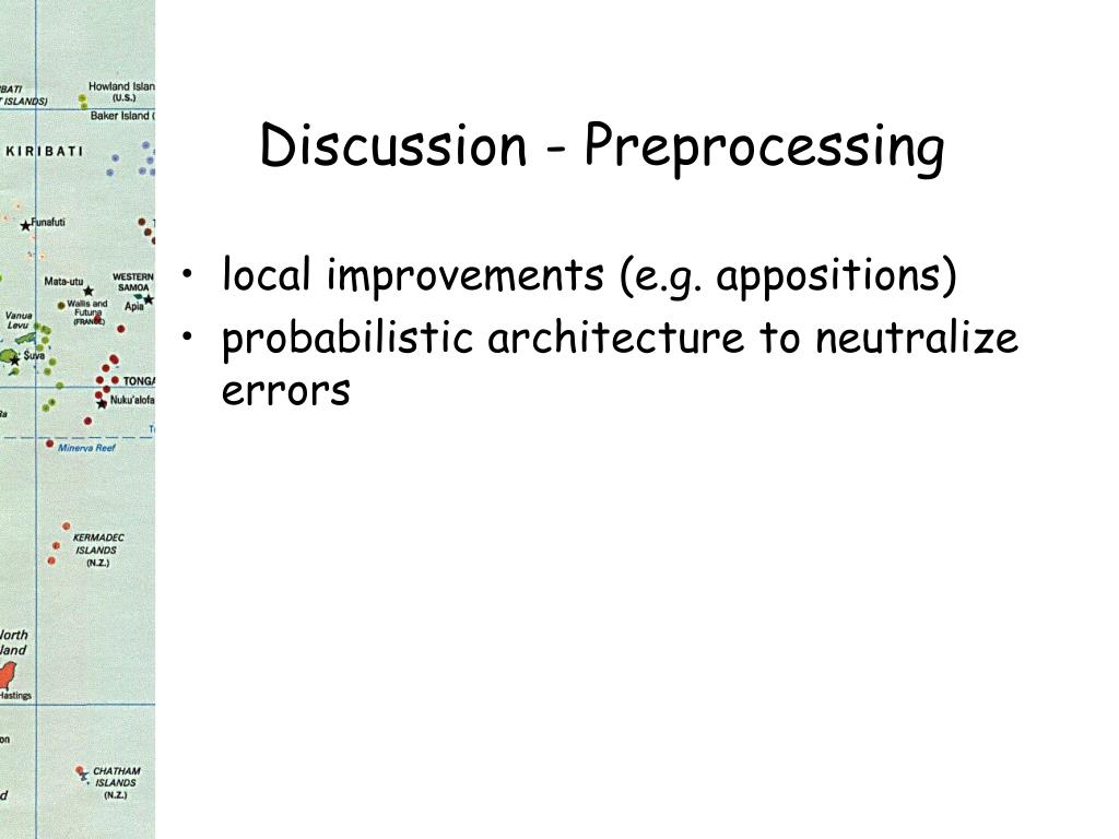 Discussion - Preprocessing