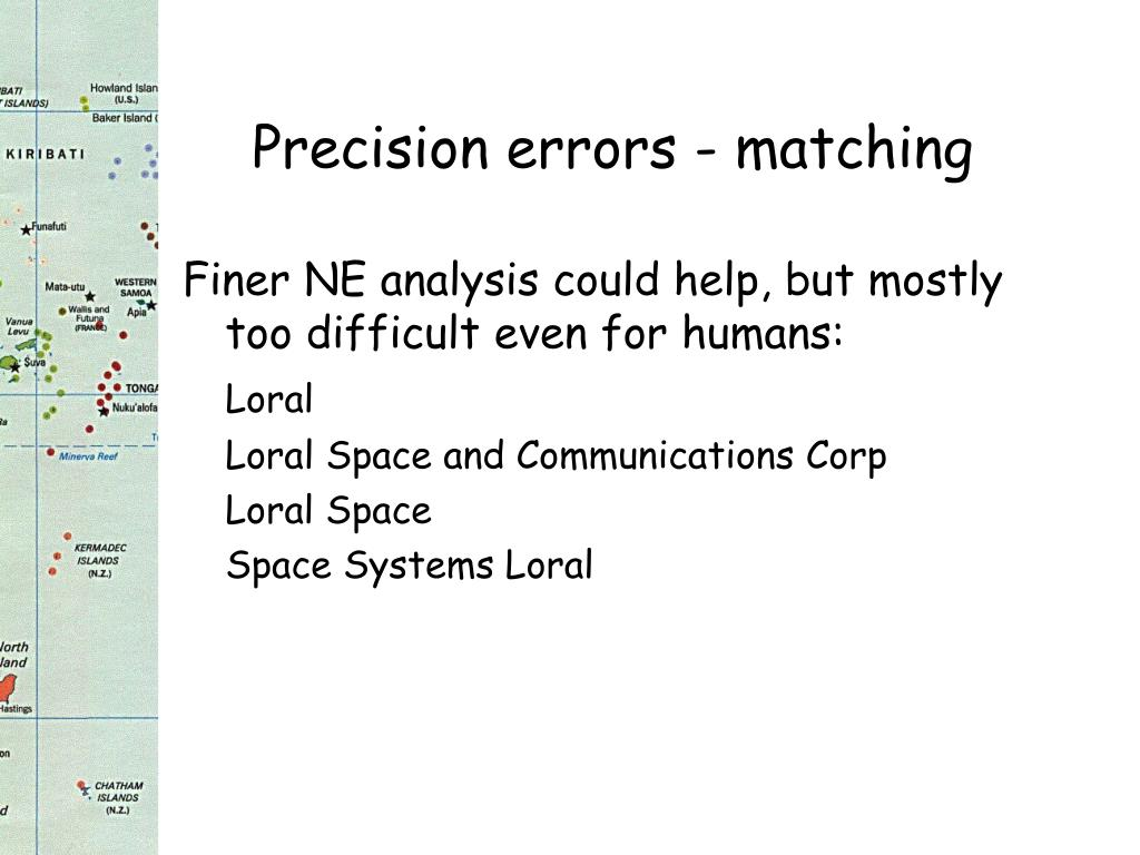 Precision errors - matching