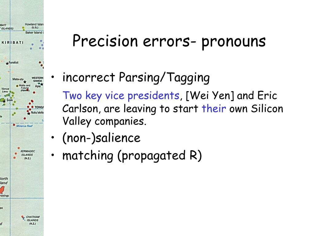 Precision errors- pronouns