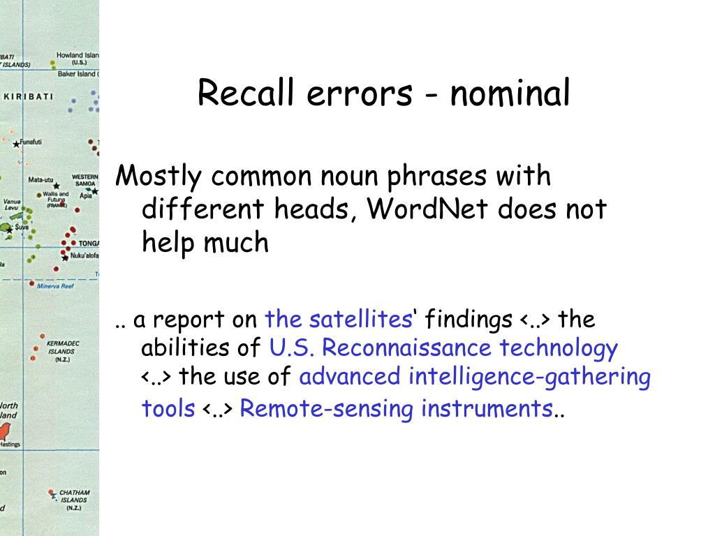 Recall errors - nominal