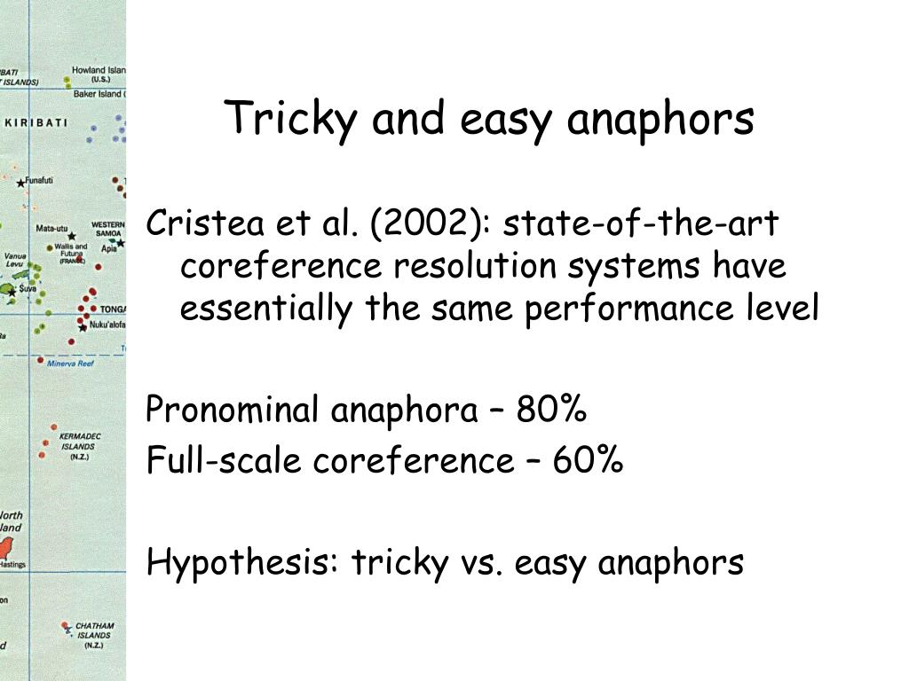 Tricky and easy anaphors