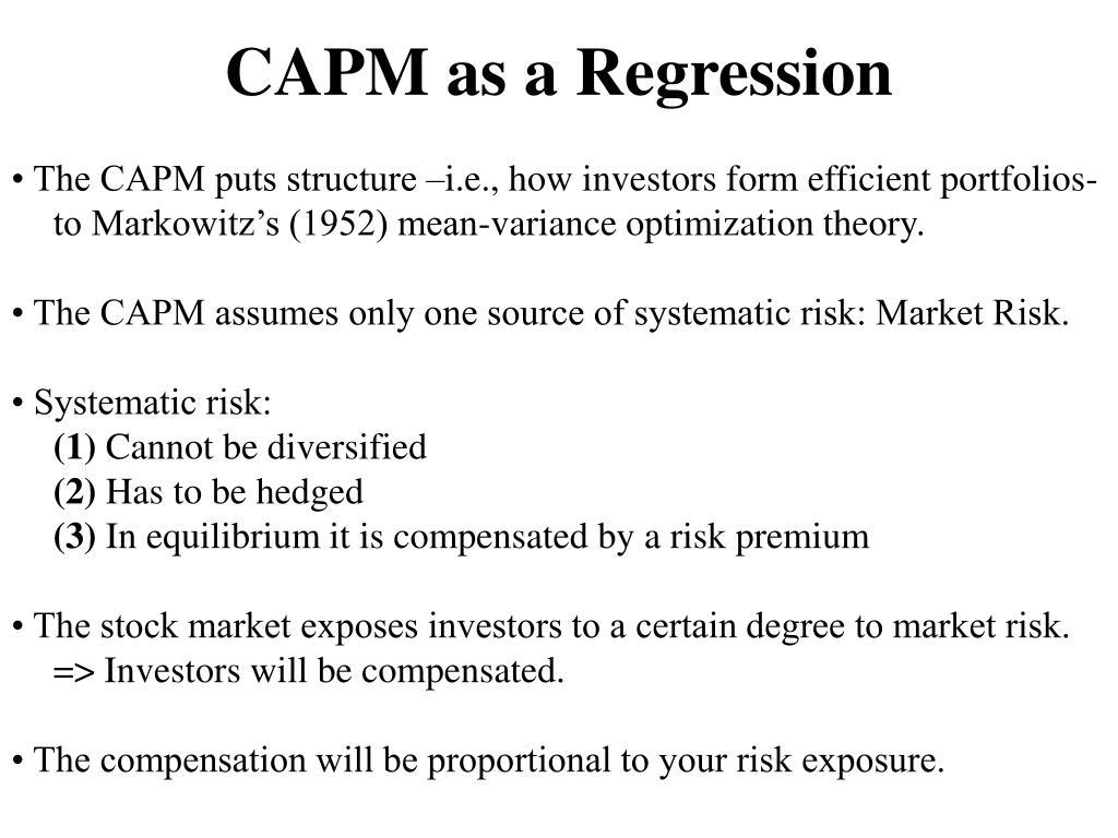 CAPM as a Regression