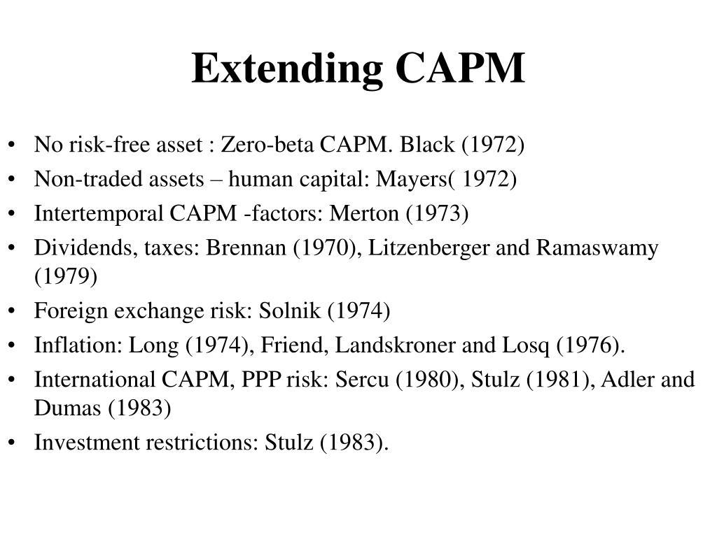 Extending CAPM