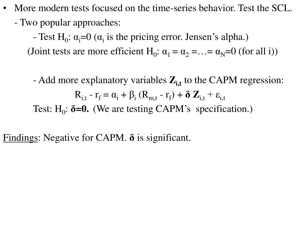More modern tests focused on the time-series behavior. Test the SCL.