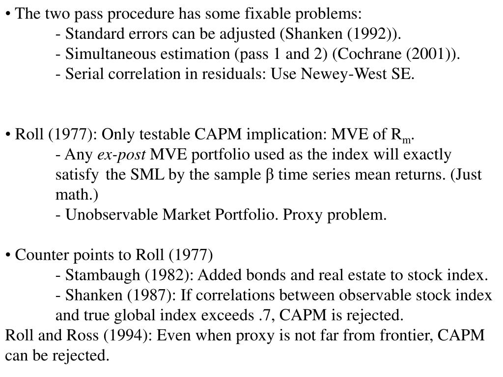 The two pass procedure has some fixable problems: