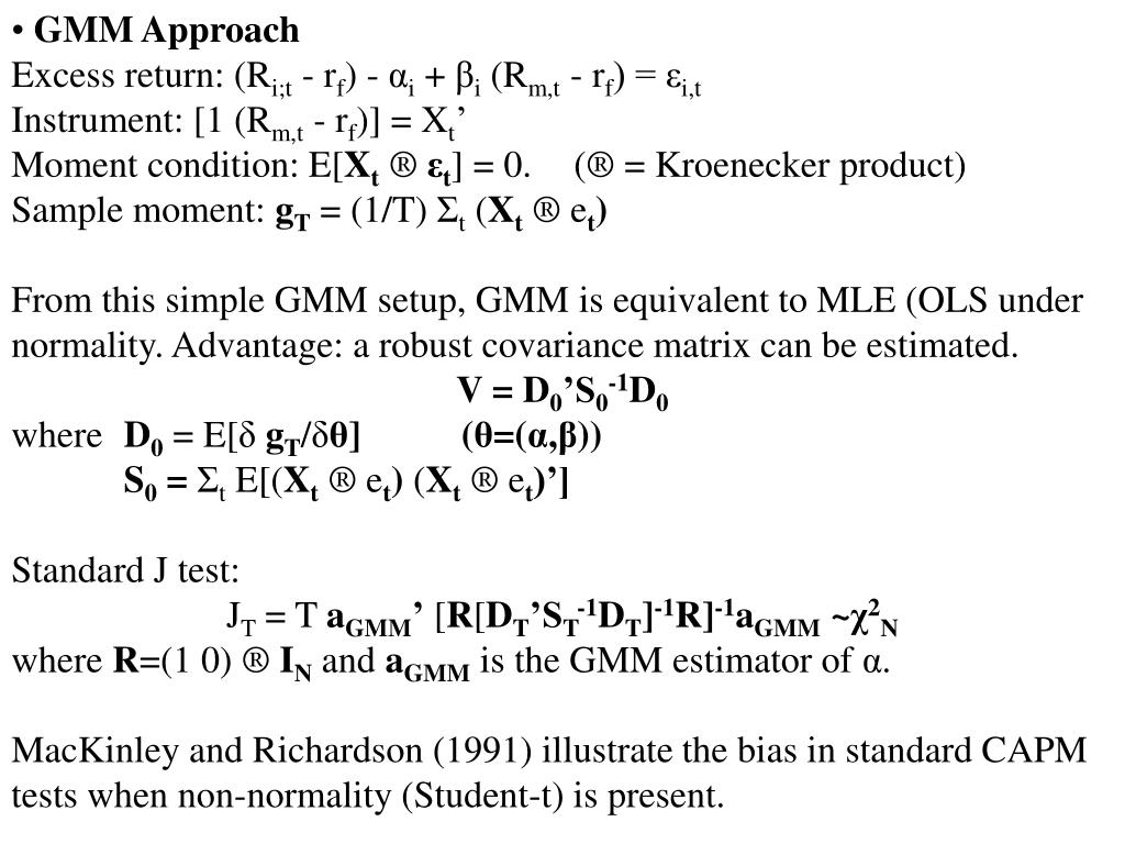 GMM Approach